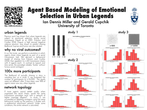 poster: Agent Based Modeling of Emotional Selection in Urban Legends