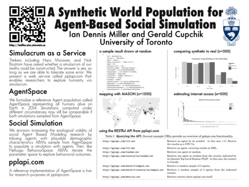 poster: Poster: A Synthetic World Population for Agent-Based Social Simulation