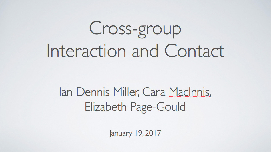 presentation: Cross-group Interaction and Contact